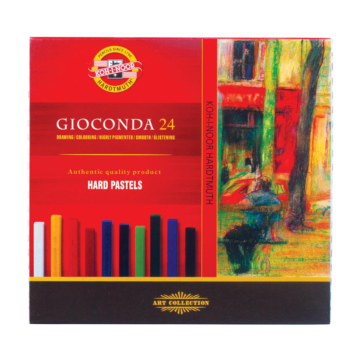 """Пастель мягкая художественная восковая для рисования Koh-I-Noor """"Gioconda"""", набор 24 цвета, квадратное #1"""