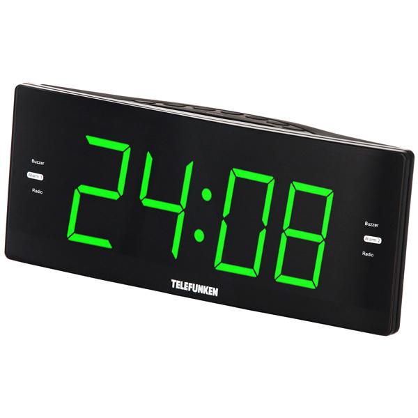 Telefunken Радио-часы TF-1587 Black/Green #1