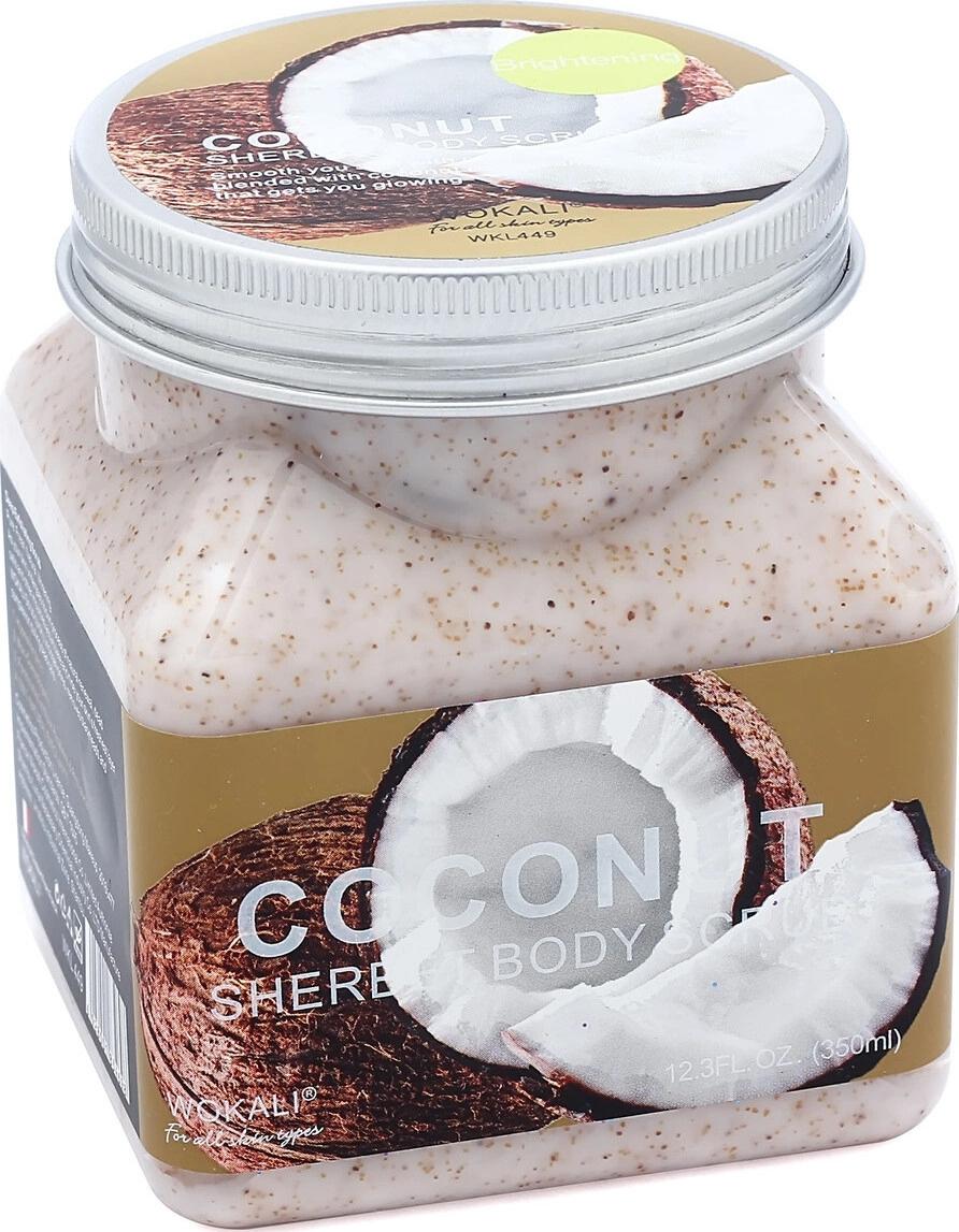 Скраб для тела Wokali Coconut Sherbet Body Scrub с кокосом 350 мл #1