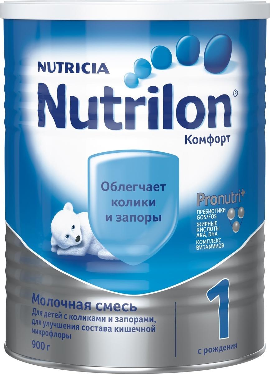 """Nutrilon Комфорт 1 специальная молочная смесь """"PronutriPlus"""", с рождения, 900 г  #1"""
