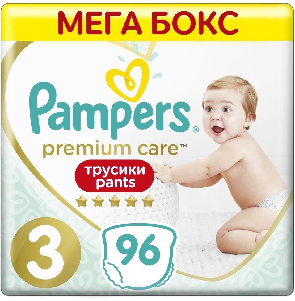 Подгузники-трусики Pampers Premium Care, 6-11 кг, размер 3, 96 шт #1