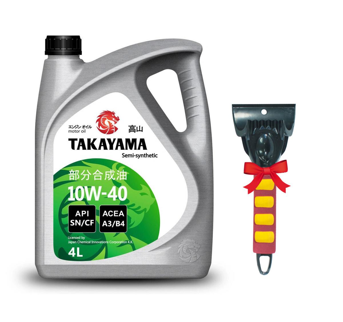 Моторное масло TAKAYAMA SAE API SN/СF 10W-40 Полусинтетическое 4 л #1