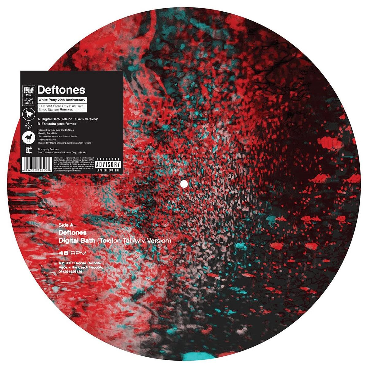 Виниловая пластинка Deftones. Digital Bath (Telefon Tel Aviv Version) / Feiticeira (Arca Remix) RSD21 #1