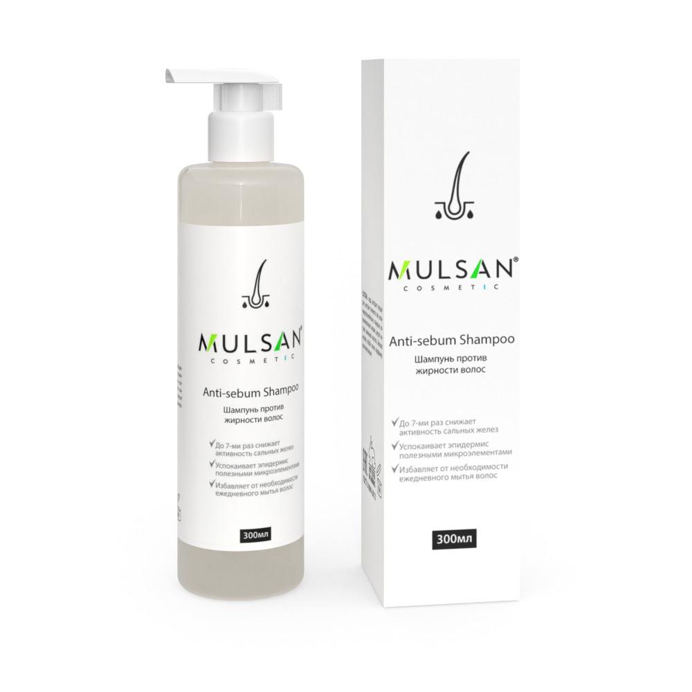 MULSAN Шампунь против жирности волос, Anti-Sebum Shampoo, 300 мл #1