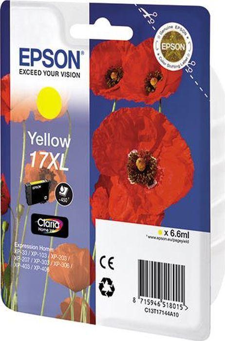 Картридж Epson для XP33/203/303, C13T17144A10, желтый картридж epson magenta xp33 203 303 c13t17034a10