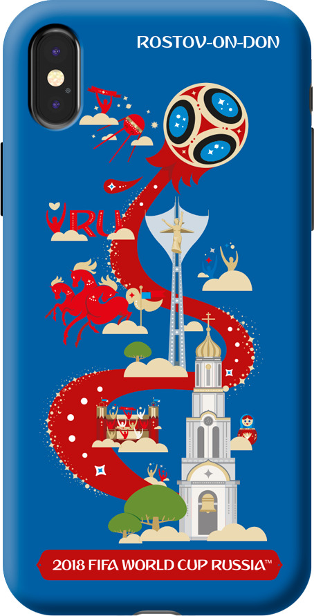 Чехол TPU для Apple iPhone X, FIFA Rostov-on-Don, Deppa чехол fifa 2018 rostov on don для iphone 6 6s
