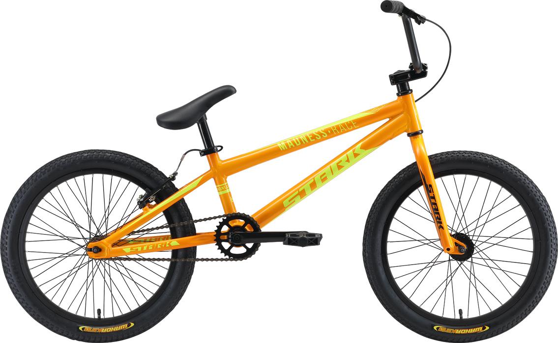 Велосипед STARK Madness BMX Race 2019 one оранжевый/жёлтый велосипед stark madness bmx 2 2019