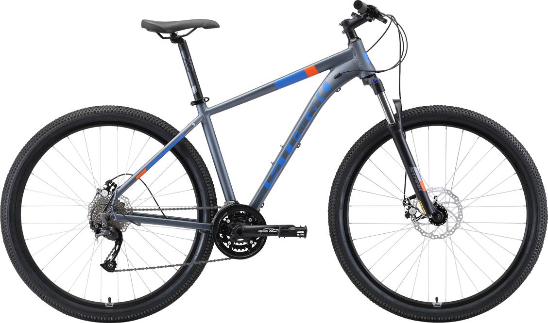 Велосипед STARK Router 29.4 D 2019 20 серый/голубой/оранжевый