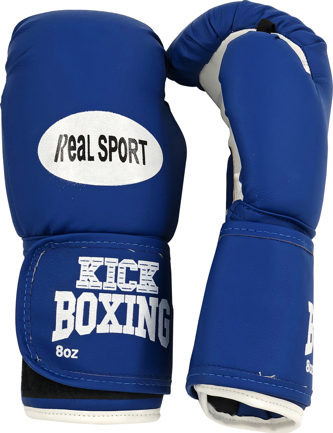 Перчатки для кикбоксинга REALSPORT RS210 10 унций, синий