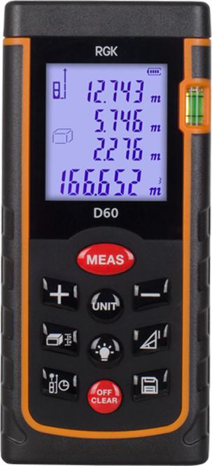 Дальномер лазерный RGK D60 лазерный дальномер rgk d50