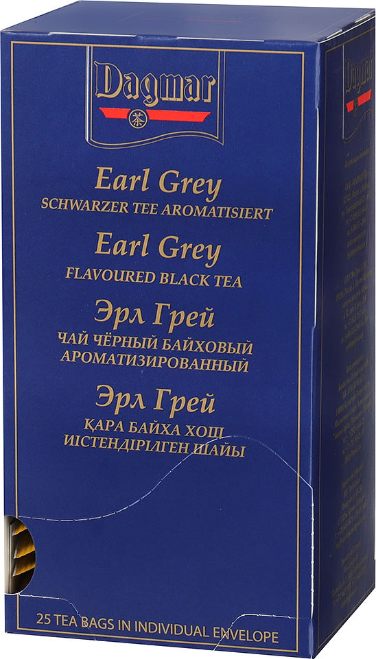 Чай черный ароматизированный на чашку Dagmar Earl Grey Эрл Грей (1,85 гр x 25 шт) стоимость