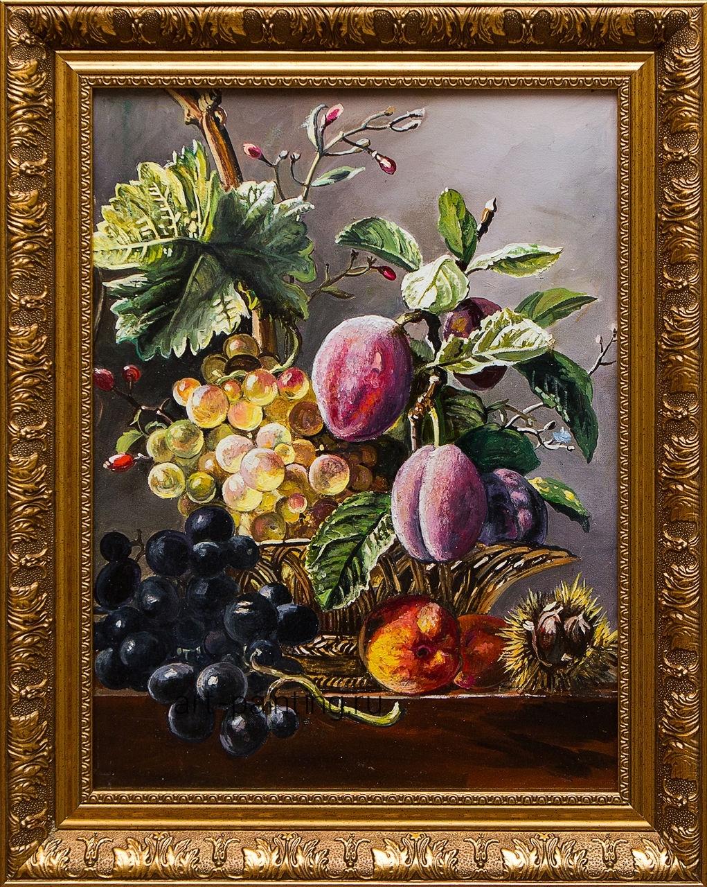 Картина маслом Натюрморт с фруктами Воробьёв картина маслом гуляки воробьёв