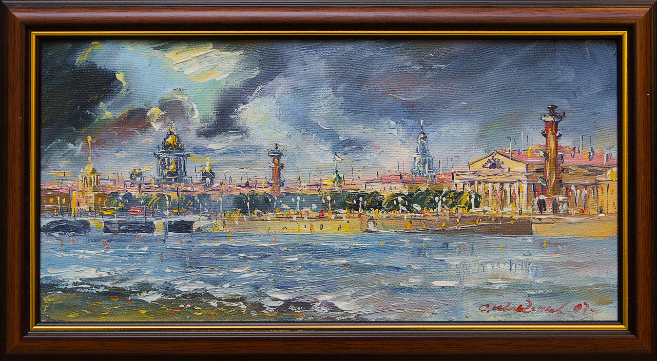 Картина маслом Стрелка В.О Иванченков картина маслом казанский собор иванченков