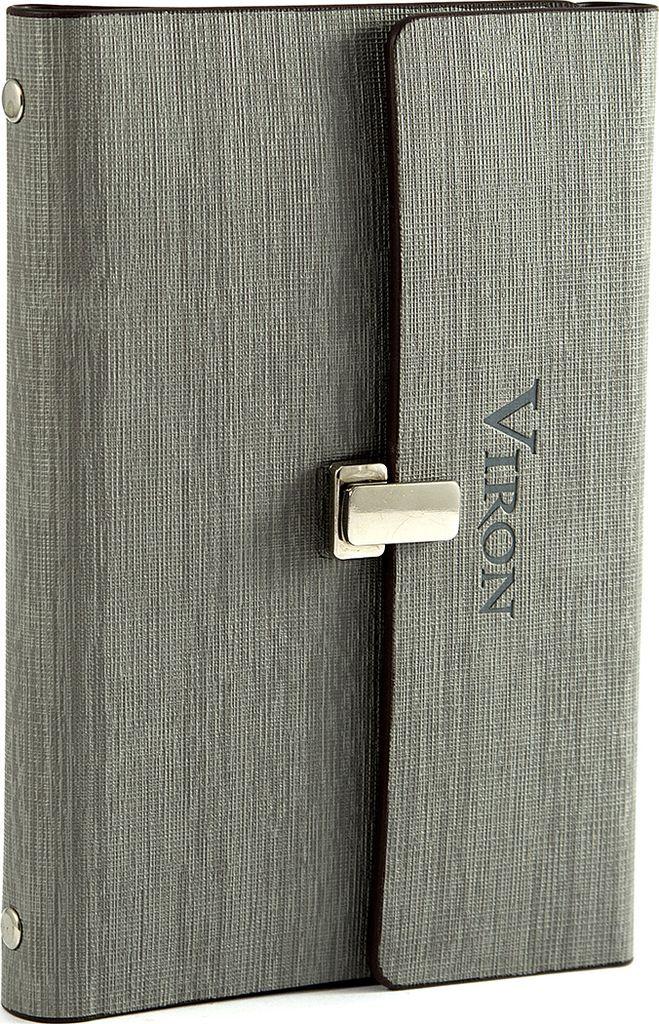 Ежедневник Viron, недатированный, 82712, серый, 80 листов