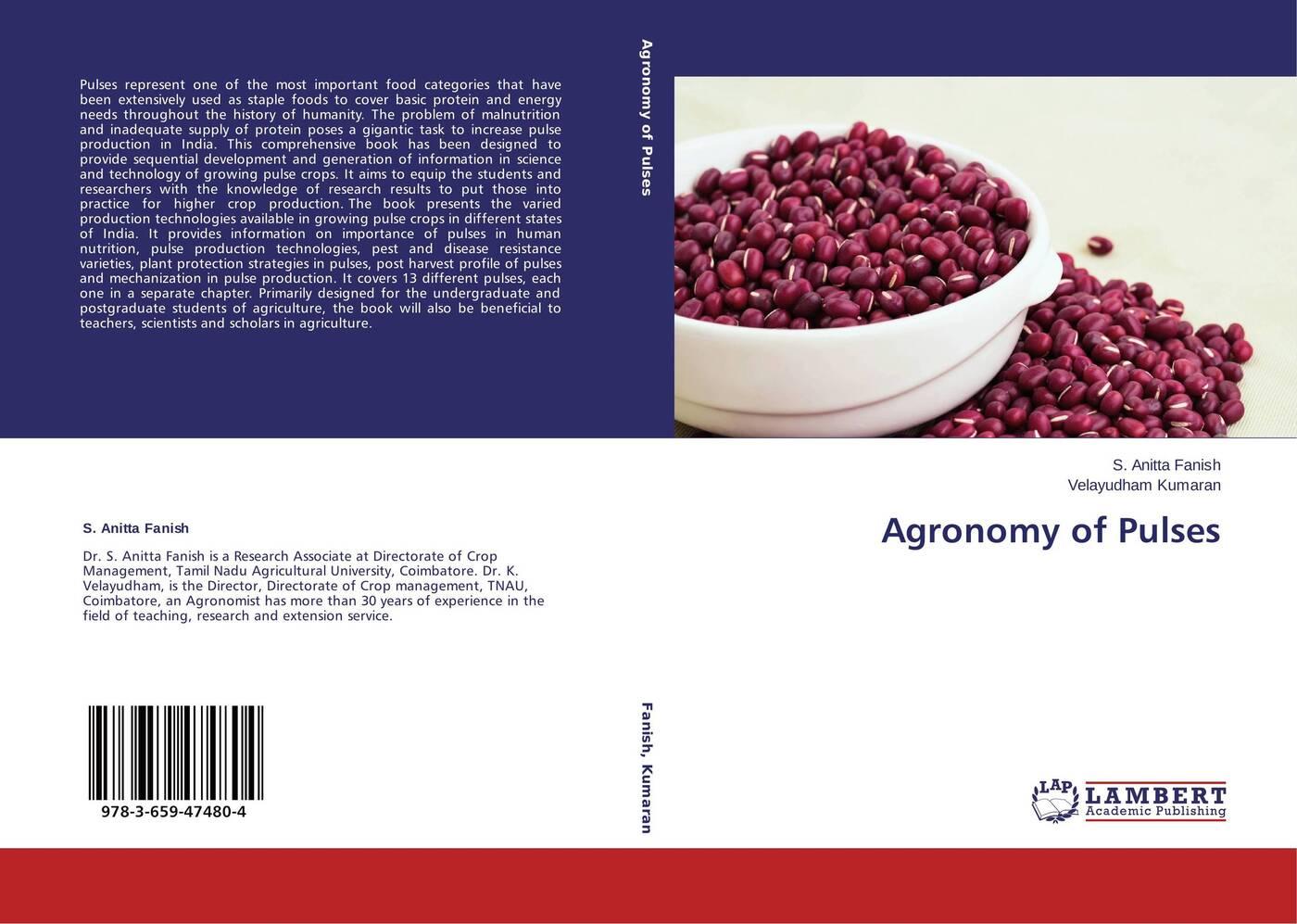 S. Anitta Fanish and Velayudham Kumaran Agronomy of Pulses anitta curitiba