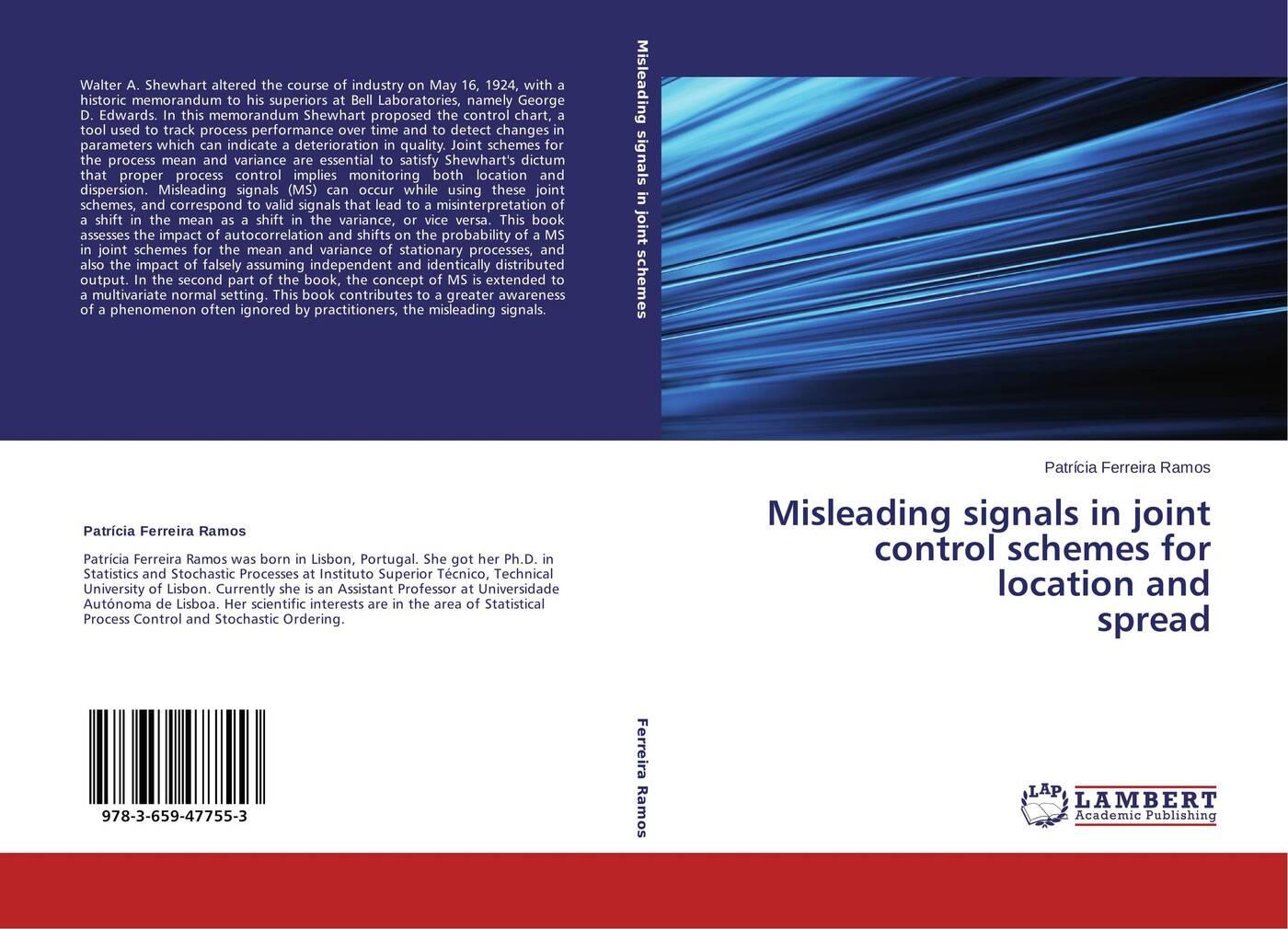 лучшая цена Patrícia Ferreira Ramos Misleading signals in joint control schemes for location and spread