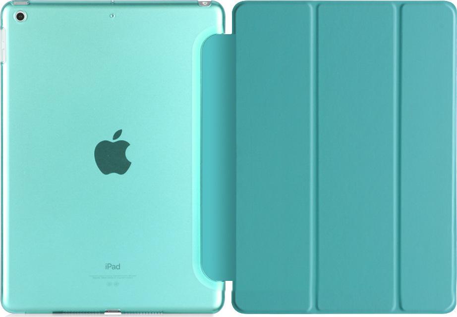 Чехол-обложка MyPads для Apple iPad Air тонкий умный кожаный на пластиковой основе с трансформацией в подставку бирюзовый