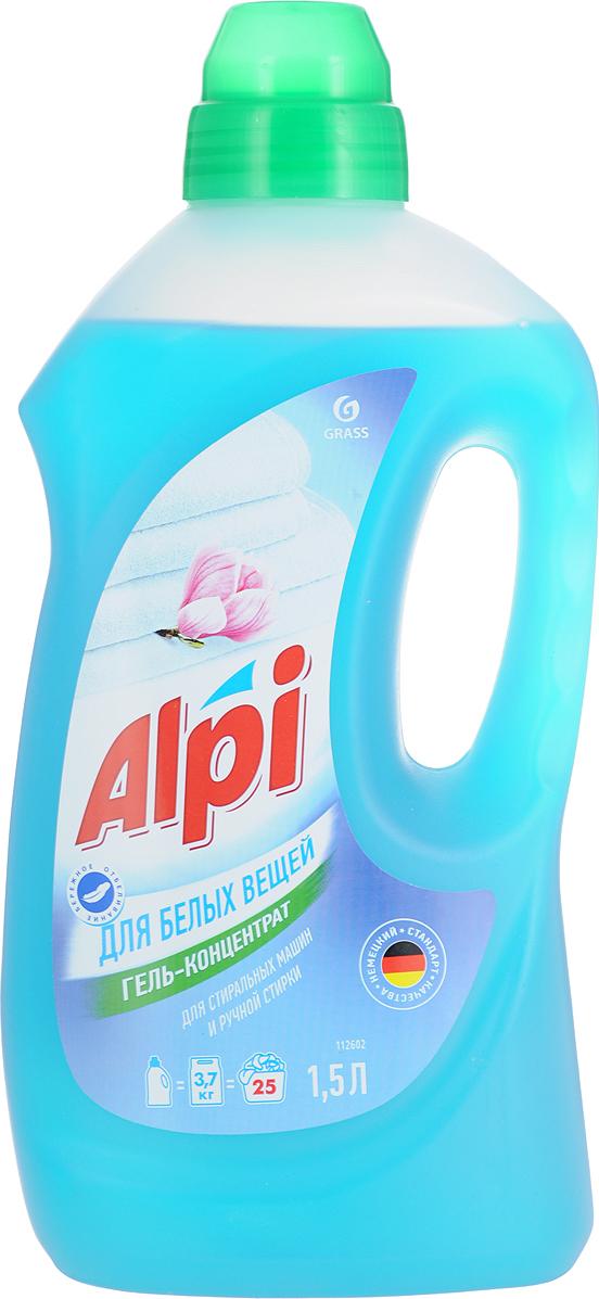 Гель-концентрат Grass ALPI, для белых вещей, 1,5 л средство для стирки цветного белья alpi 1 5 л гель концентрат 1 6 grass