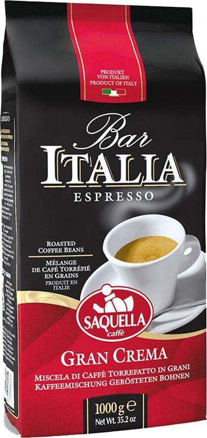 Saquella Bar Italia Gran Crema, кофе в зернах 1 кг