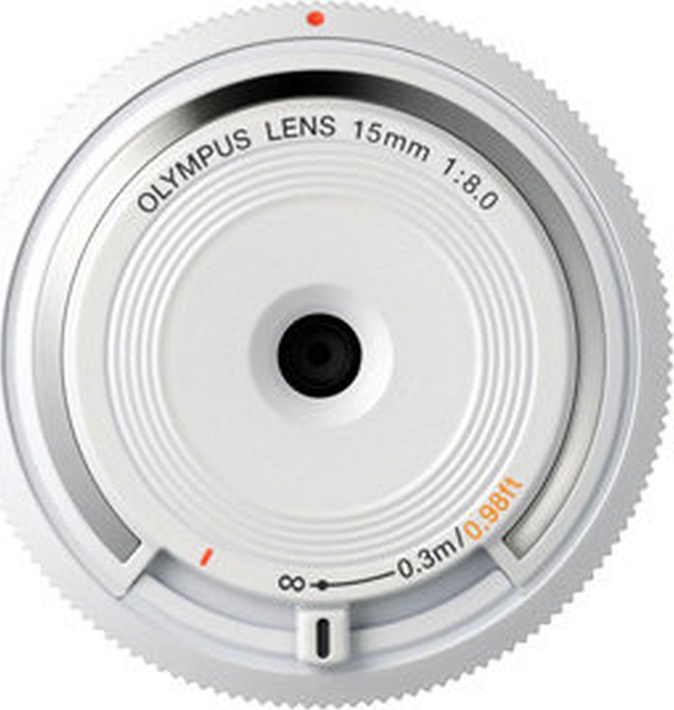 Объектив Olympus Body Cap Lens 15mm 1:8.0 (BCL-1580), белый