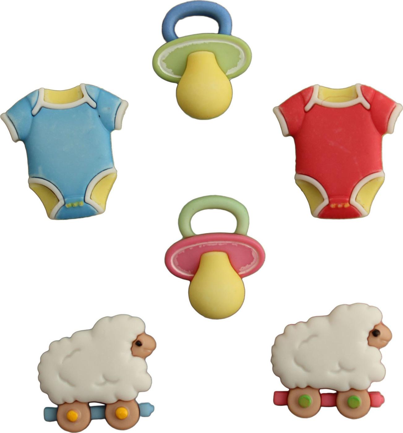 Пуговицы Buttons Galore пластиковые декоративные Lullaby