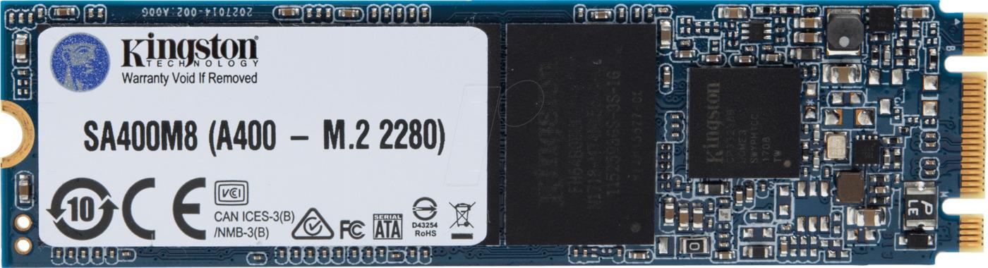SSD-Накопитель  Kingston   240GB  SA400M8, SM2280 m.2 Sata, SATA-III, R/W -500/320 MB/s, TLC 3D NAND