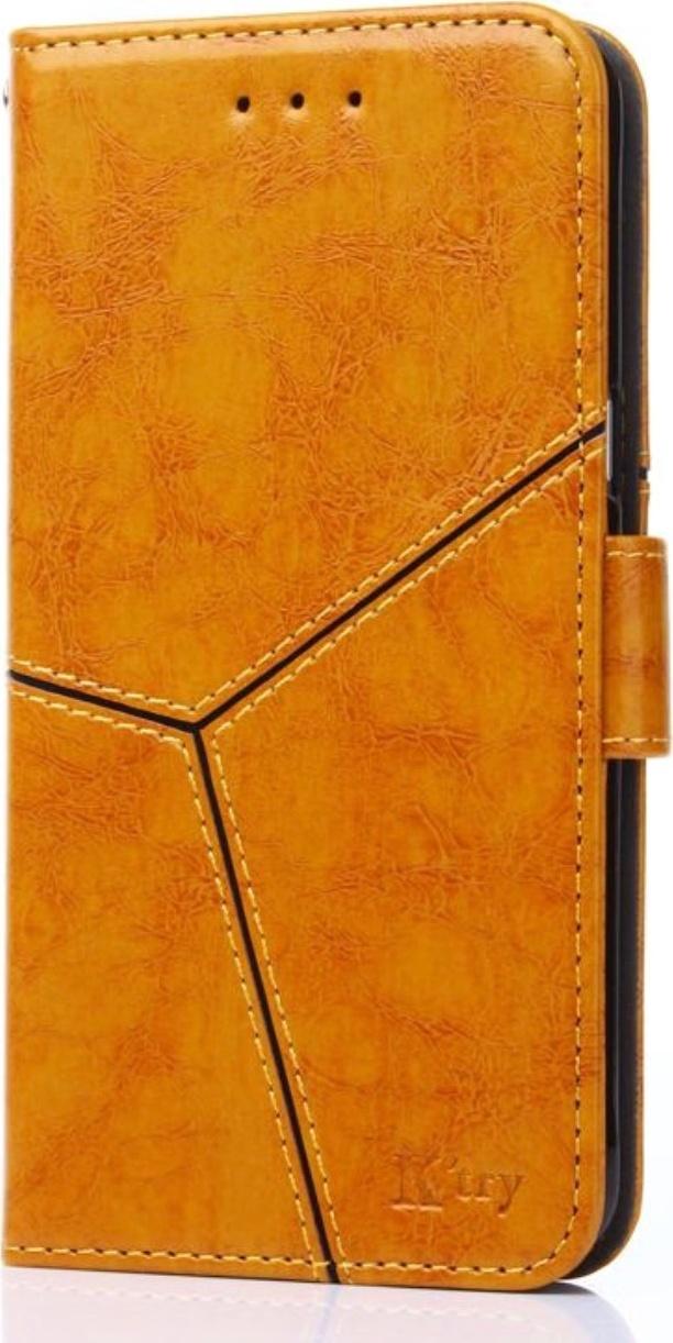 Чехол-книжка MyPads для Huawei Y5 2019  Huawei Honor 8S прошитый по контуру с необычным геометрическим швом золотой желтый