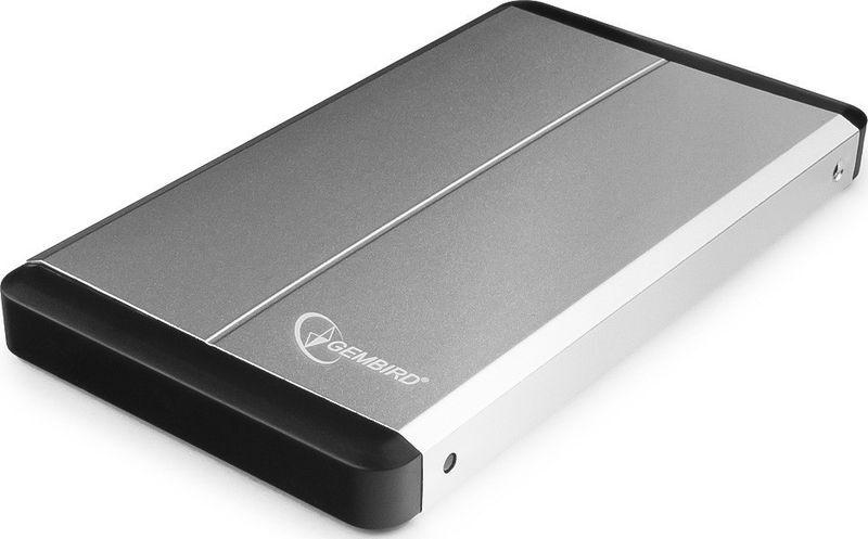 "Портативный внешний жесткий диск Gembird Внешний корпус 2.5"" Gembird EE2-U3S-2-S, серебро, USB 3.0, SATA, металл Gembird {100}, EE2-U3S-2-S"