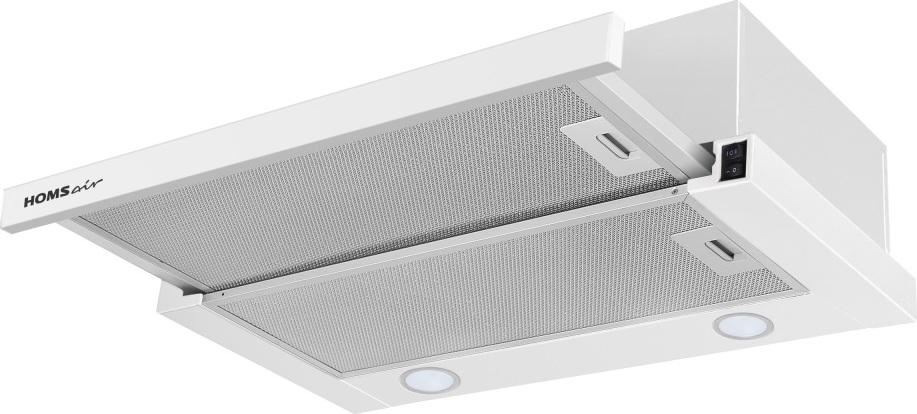 Кухонная вытяжка HOMSair FLAT 60 БЕЛЫЙ Освещение Вытяжка комплектуется энергосберегающим освещением...