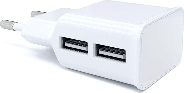 Сетевое зарядное устройство Red Line 2 USB (модель NT-2A), 2.1A белый