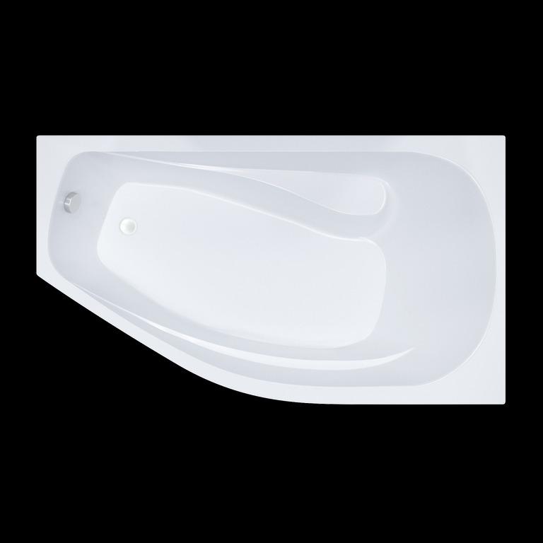 Акриловая ванна Triton Скарлет 167x96 асимметричная левая