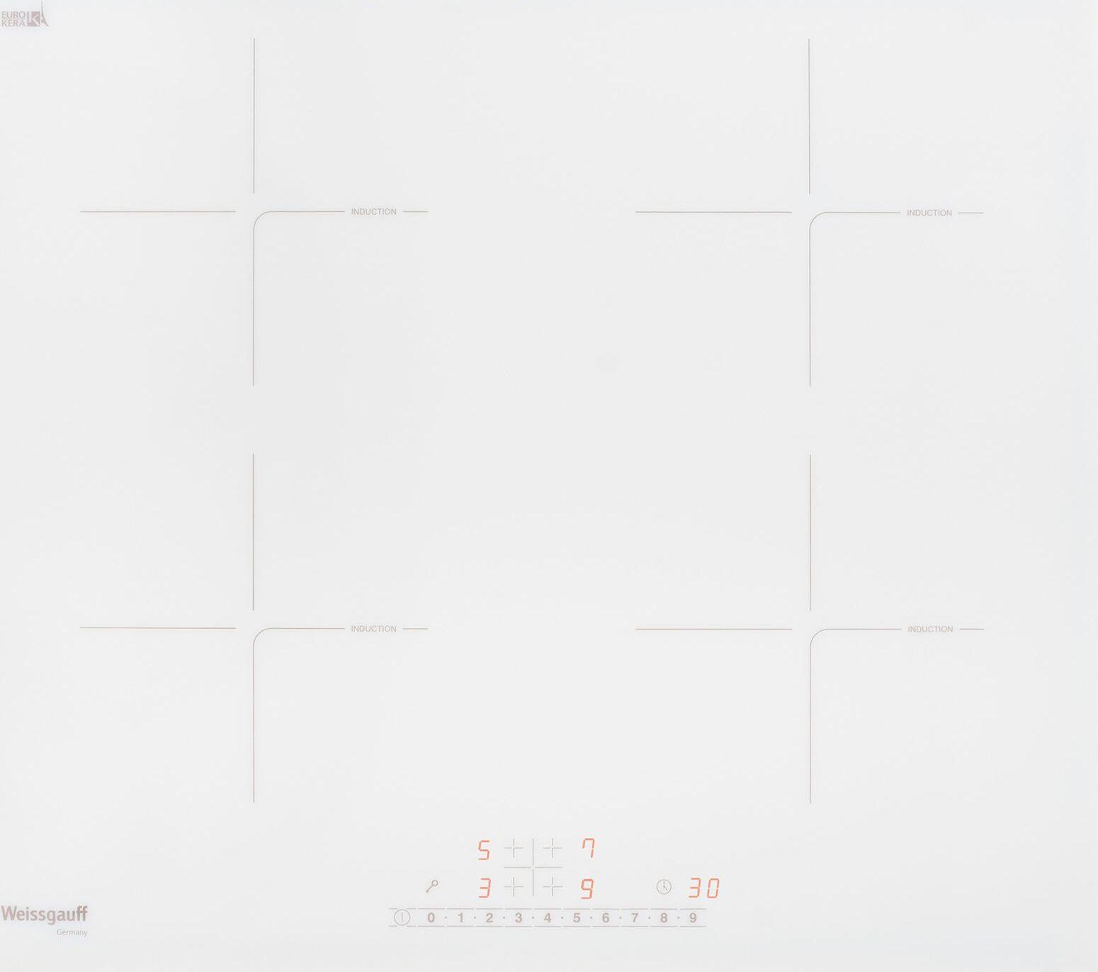 Варочная панель Weissgauff HI 640 WSC, белый