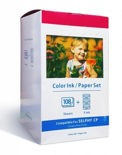 Картридж Canon + фотобумага Sprint SP-C-KP108IN, для струйного принтера, совместимый