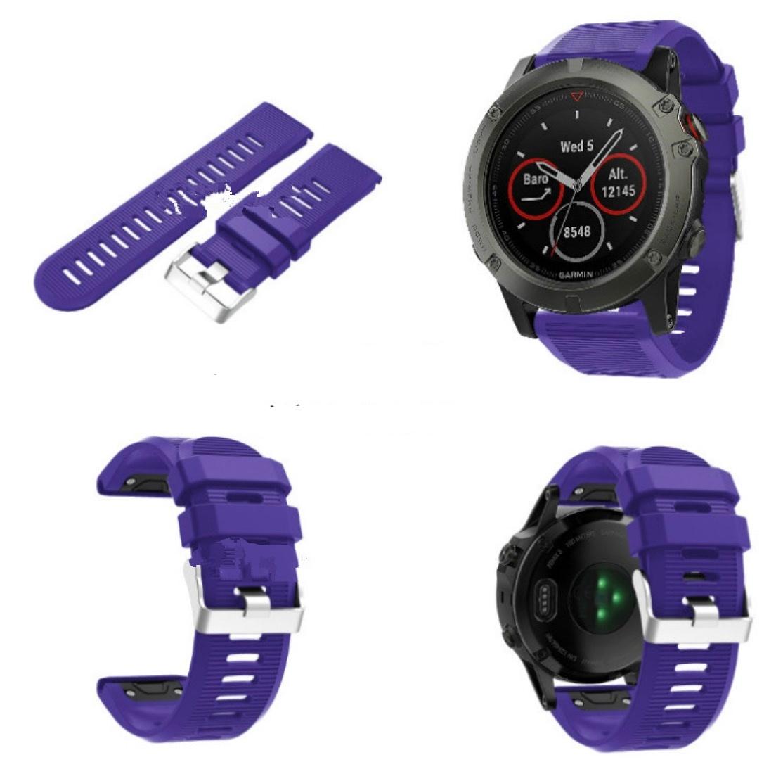Сменный ремешок MyPads для умных смарт-часов Garmin Fenix 3/ Fenix 3 HR/HRM / Quatix 3 яркий цветной силиконовый