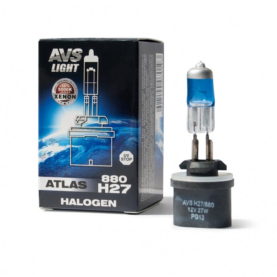 Галогенная лампа AVS ATLAS BOX/5000К/ H27/880 12V.27W.Коробка-1шт.