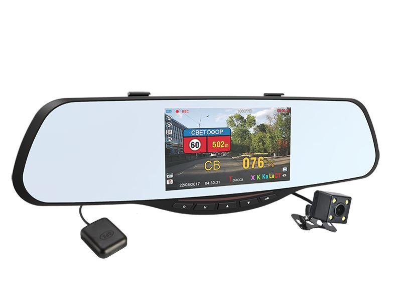 зеркало заднего вида с регистратором и камерой заднего вида видеообзор
