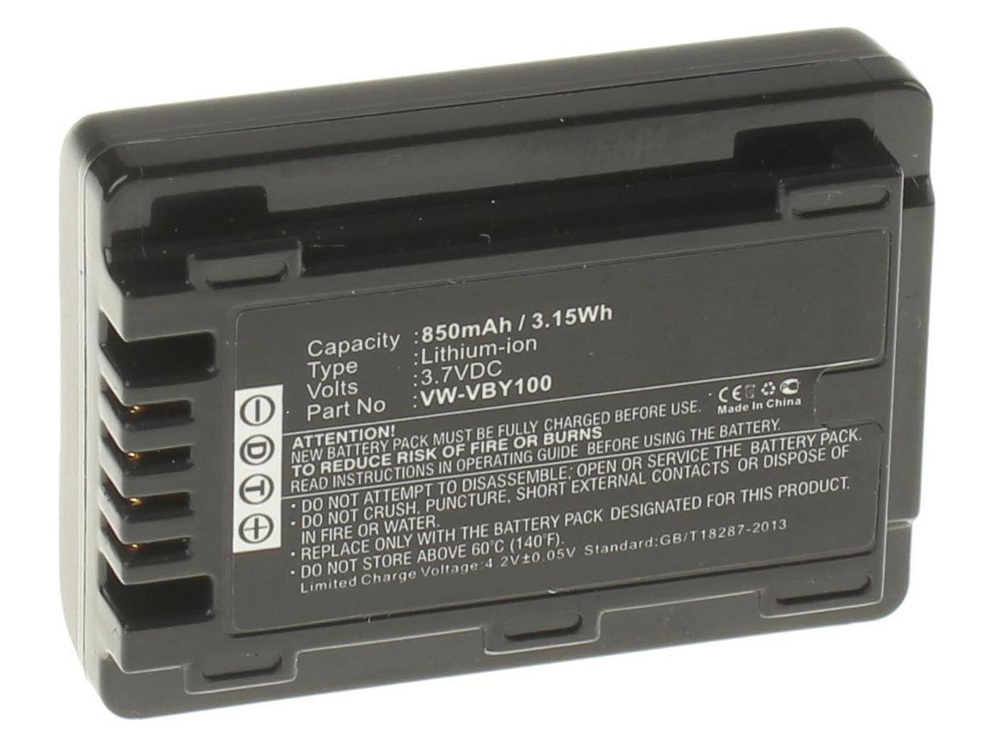 Аккумуляторная батарея iBatt iB-T1-F238 850mAh для камер Panasonic HC-V160, HC-V110, HC-V130, HC-V110EE-K, HC-V201, HC-V201K,