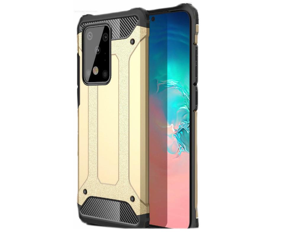 Чехол-бампер MyPads для Samsung Galaxy A71 SM-A715F (2020) противоударный усиленный ударопрочный золотой