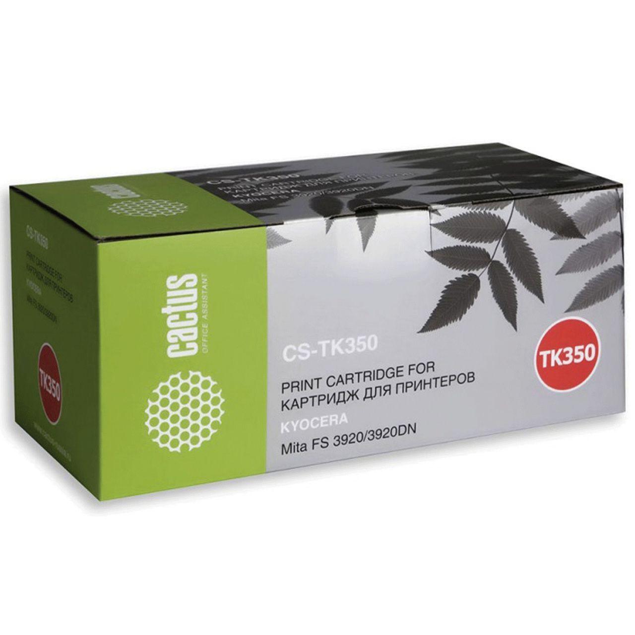 Тонер-картридж Cactus (CS-TK350), черный, для лазерного принтера, совместимый