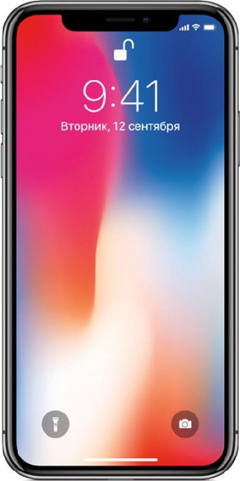 смартфон apple iphone x 256gb, space grey (ref.)