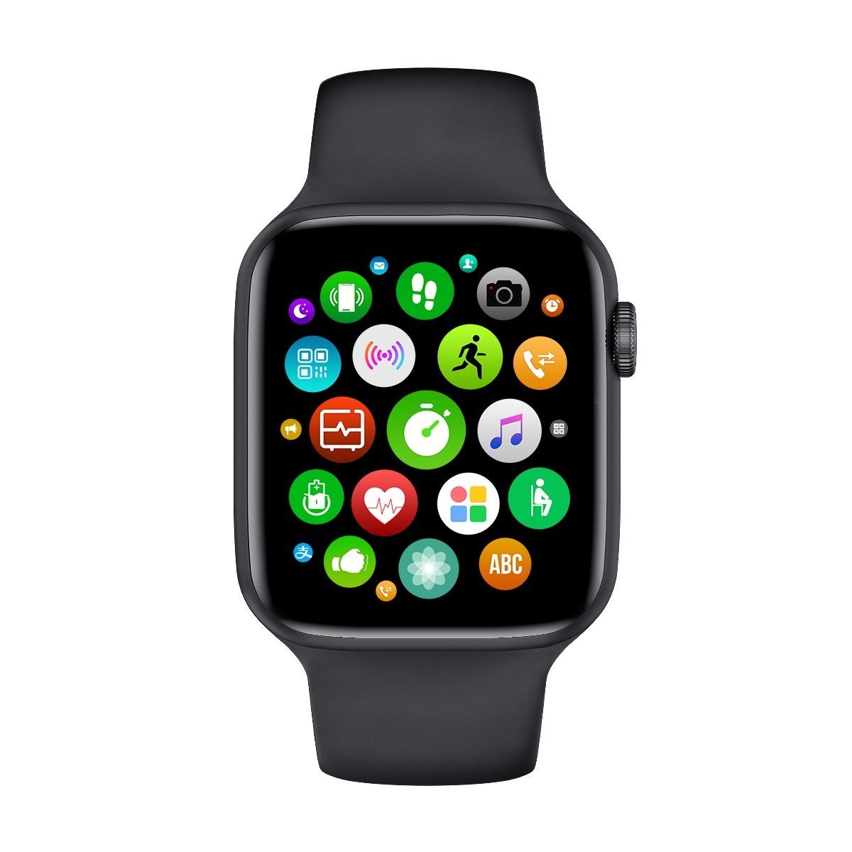 Умные смарт-часы 2020, 6 Smart Watches W26, с функцией измерения температуры тела, черный
