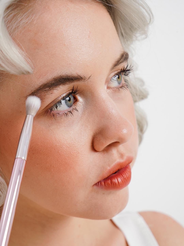 BEAUTY4LIFE Кисть косметическая плоская для корректора, Rose Collection
