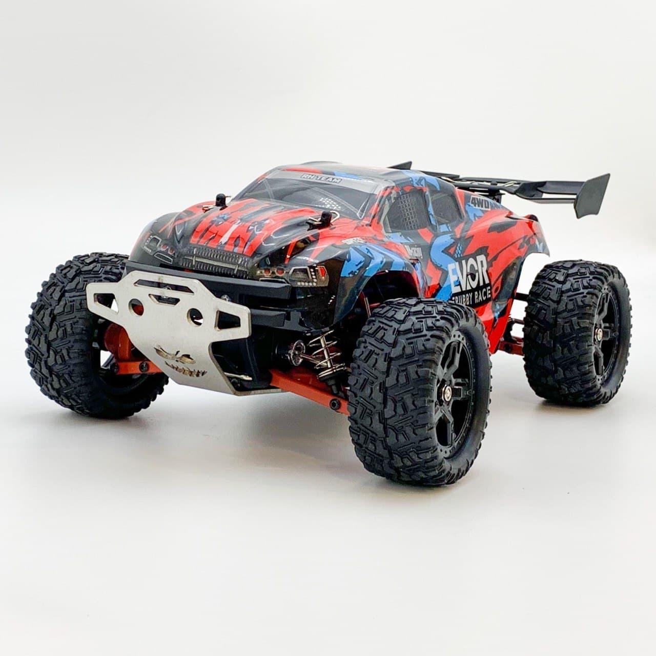 Радиоуправляемый монстр Remo Hobby 1/16 S-Evor v2 RH1661UPG с металлической защитой 4WD 2.4G до 50км/ч RTR