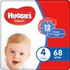 Huggies Подгузники Classic 7-18 кг (размер 4) 68 шт - изображение
