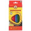 Цветные карандаши Koh-I-Noor Triocolor художественные 12 цветов - изображение