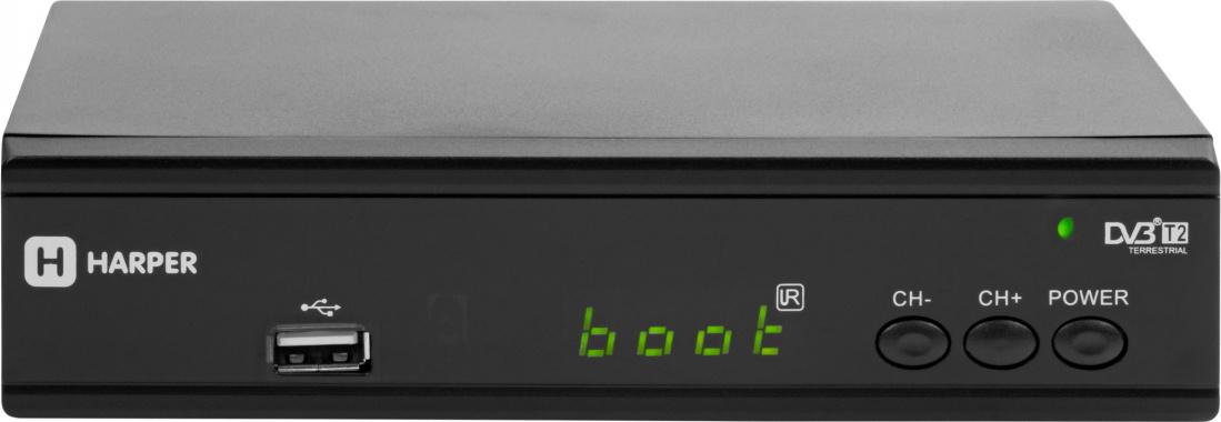 ТВ ресивер Harper HDT2-2030, черный #1