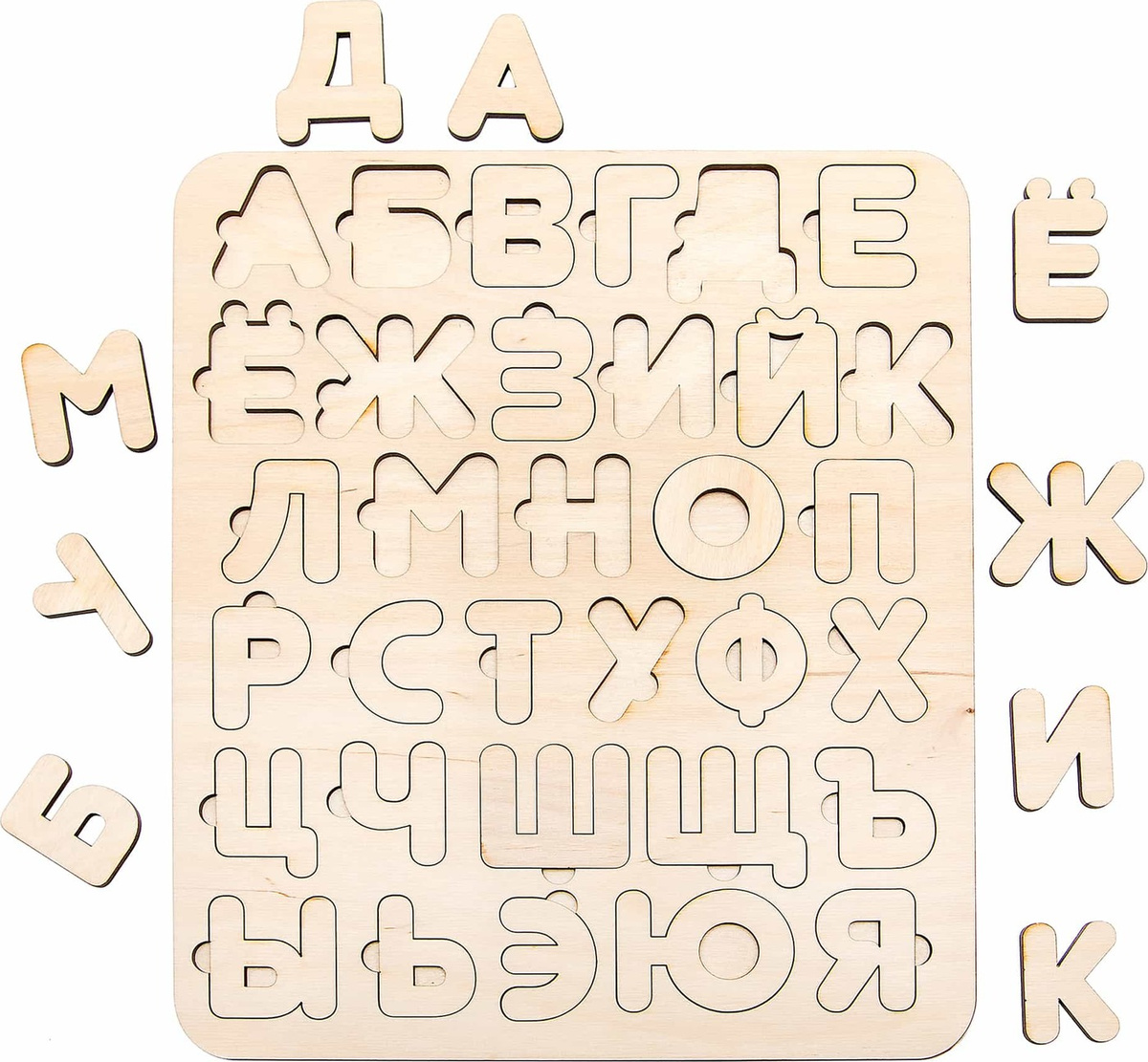 """Деревянная раскраска """"Алфавит"""" — купить в интернет ..."""