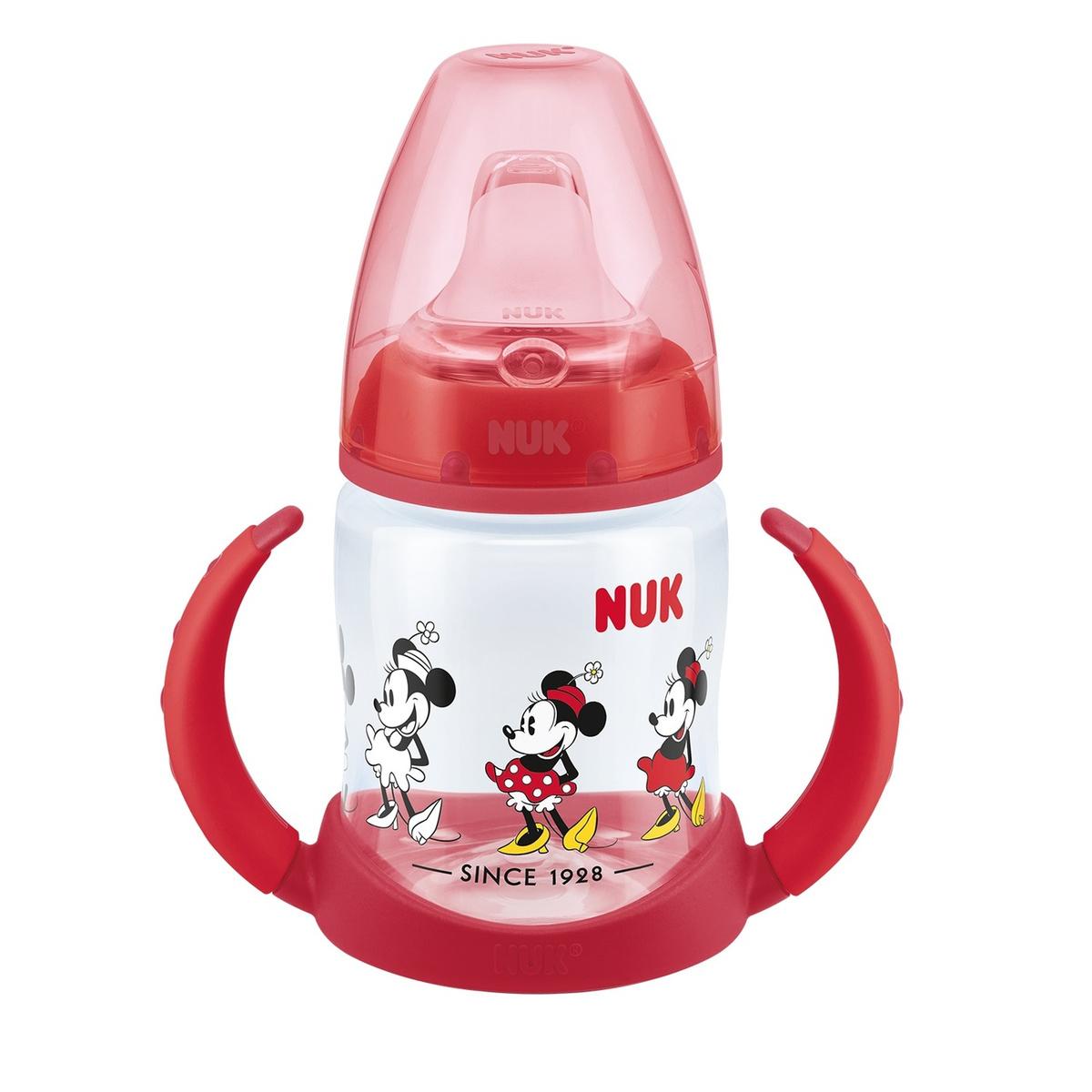 NUK FС+ ДИСНЕЙ Микки Маус Обучающая бутылочка с силиконовой насадкой, 150 мл - красная  #1