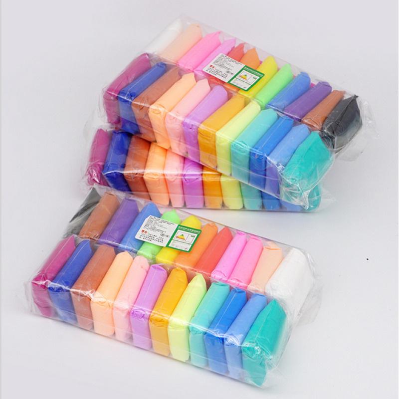 Пластилин лёгкий, мягкий, воздушный, 3 упаковки по 24 цвета  #1