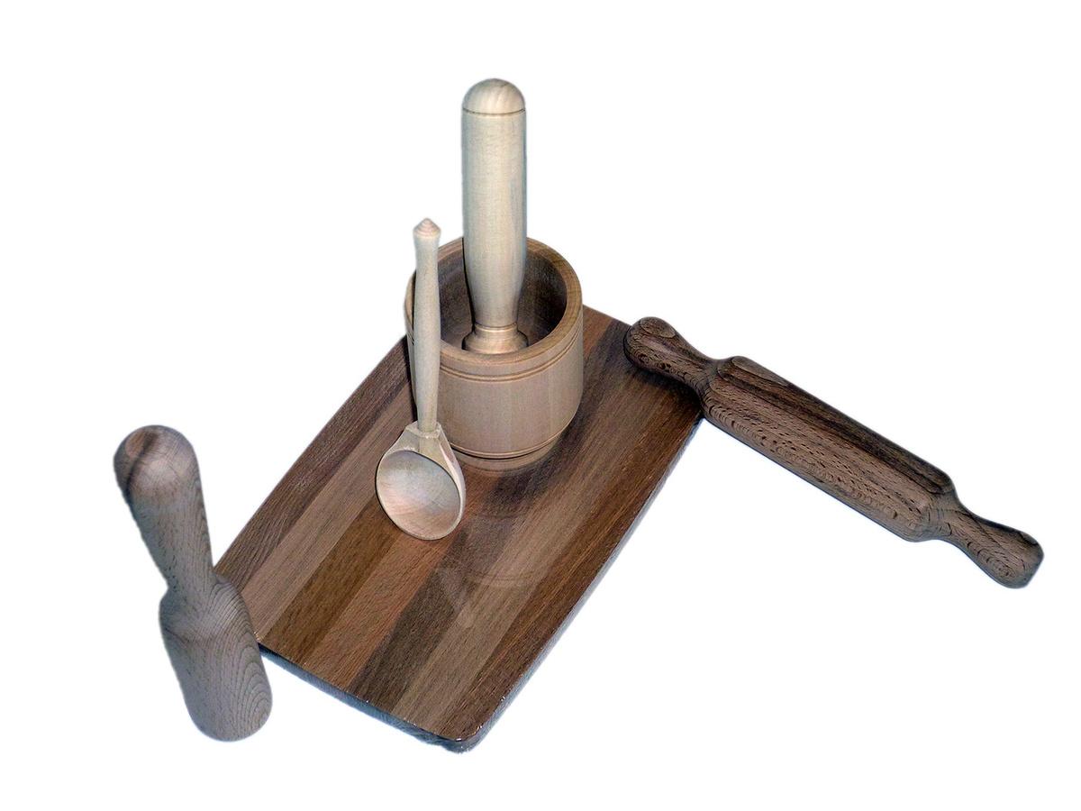 Набор детской посуды для росписи Кухонная утварь (6 предметов)  #1